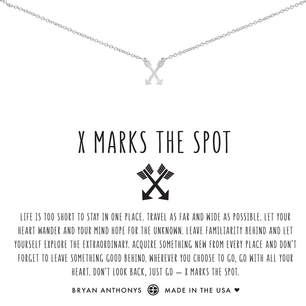 Bryan Anthonys Dainty x marks the spot Necklace silver