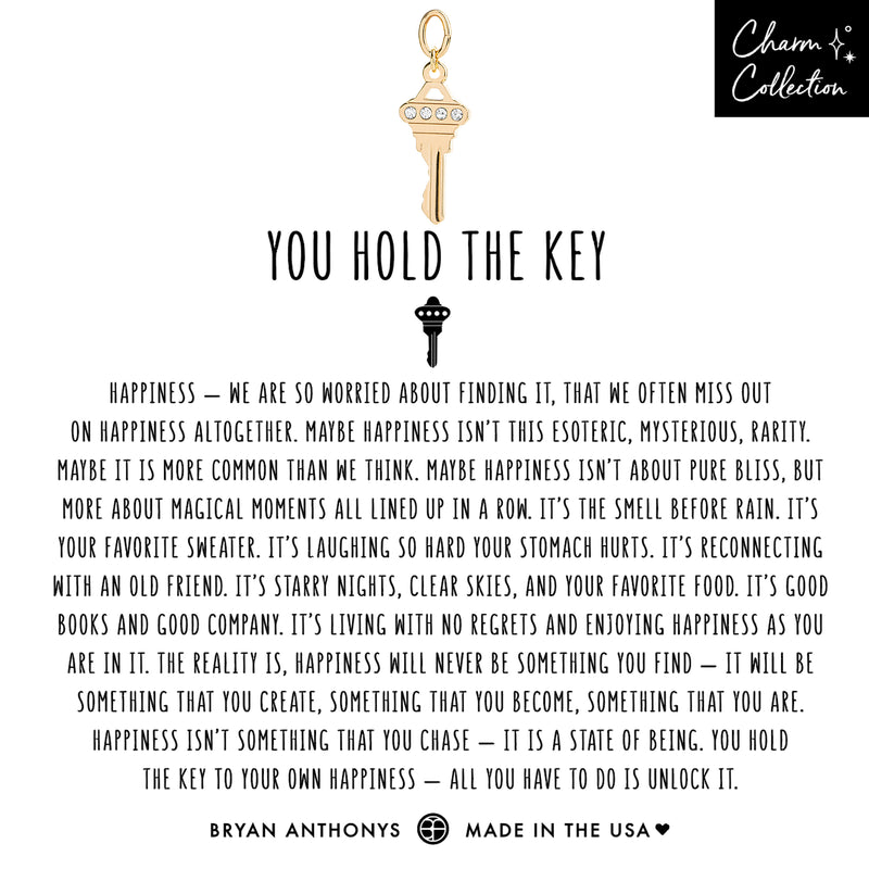 You Hold The Key Earring Charm