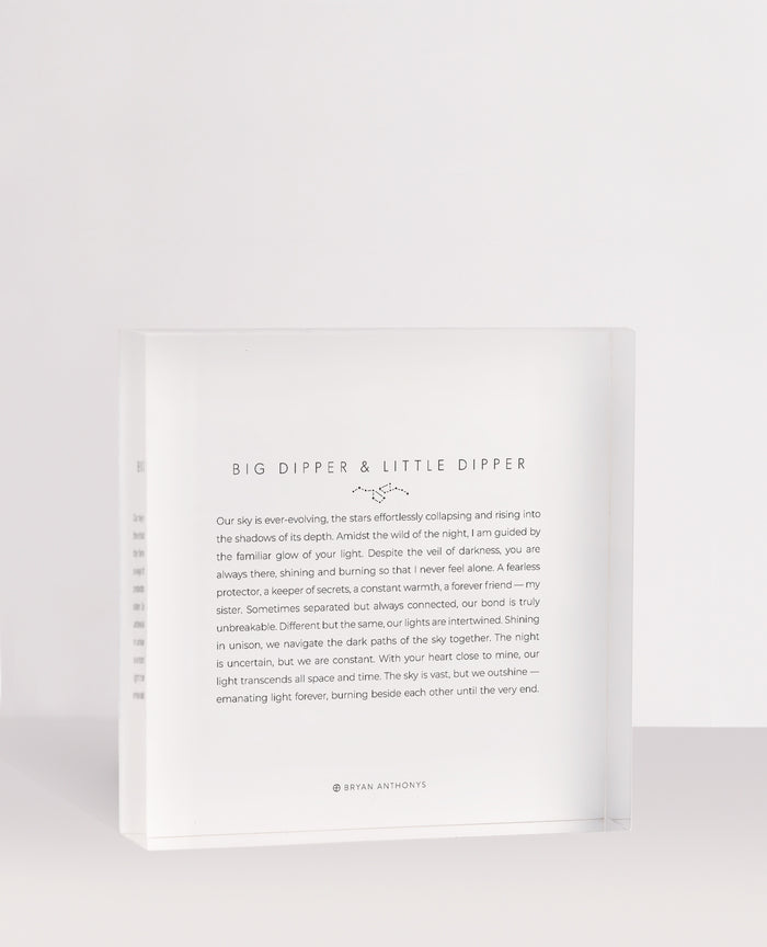 Bryan Anthonys Big Dipper Little Dipper Mini Mantra Acrylic Block