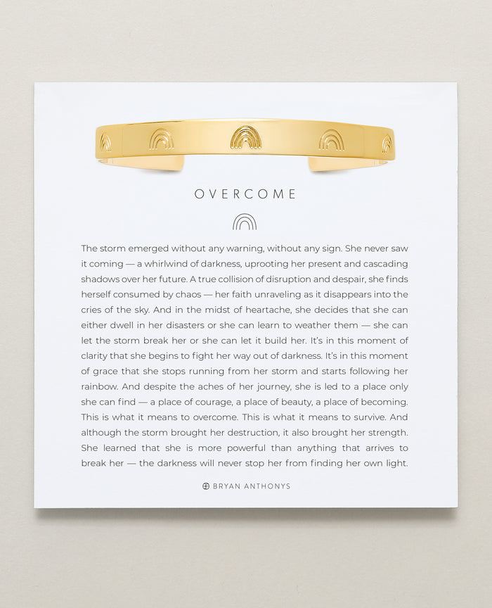 Bryan Anthonys Overcome Gold Engraved Cuff On Card