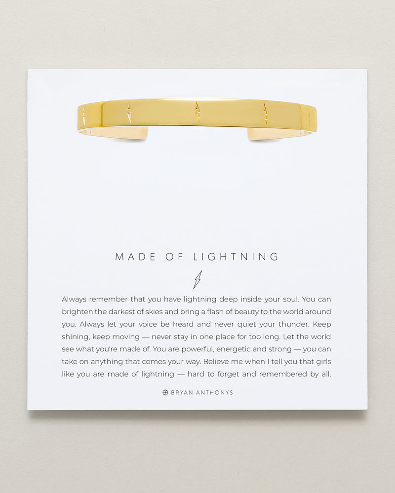 Made of Lightning Engraved Cuff