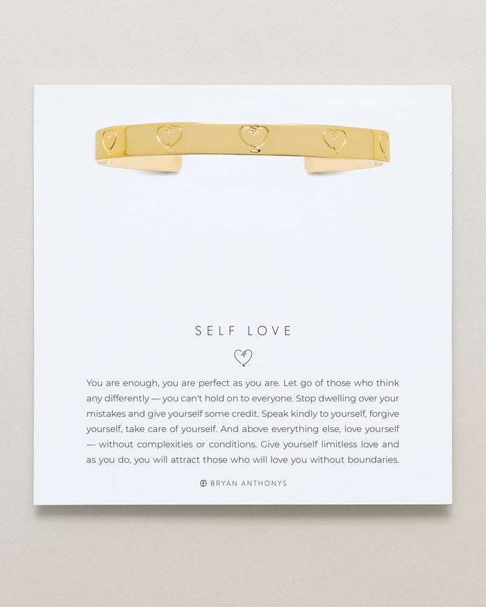 bryan anthonys self love engraved cuff 14k gold