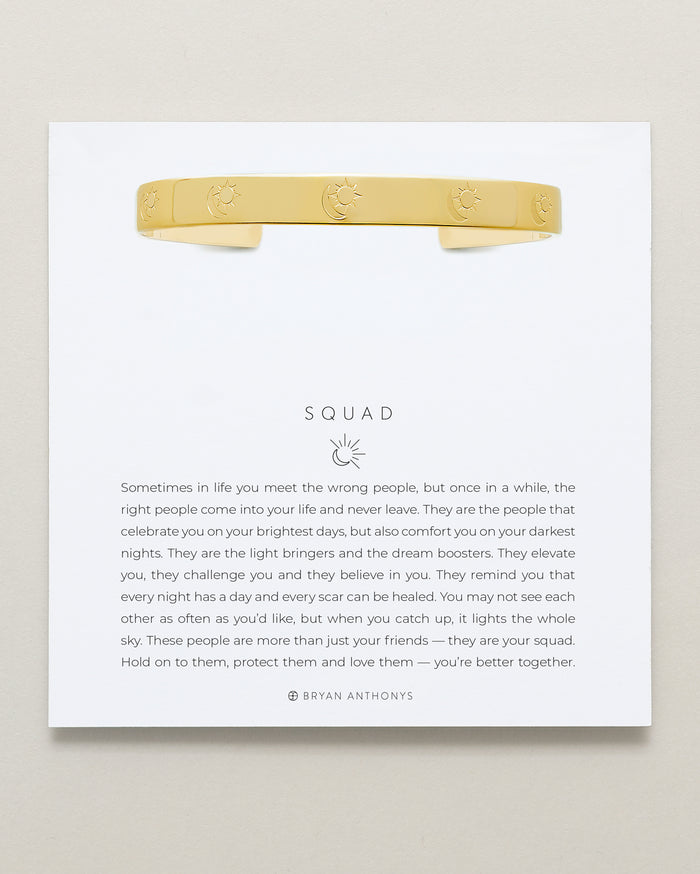 Bryan Anthonys Squad Gold Engraved Cuff On Card