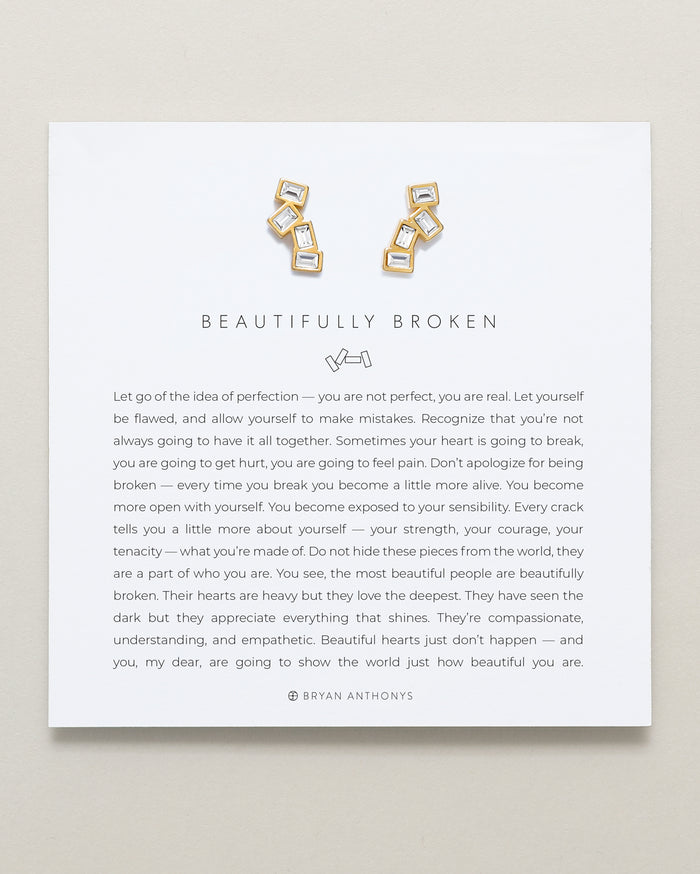 Bryan Anthonys beautifully broken earrings 14k gold