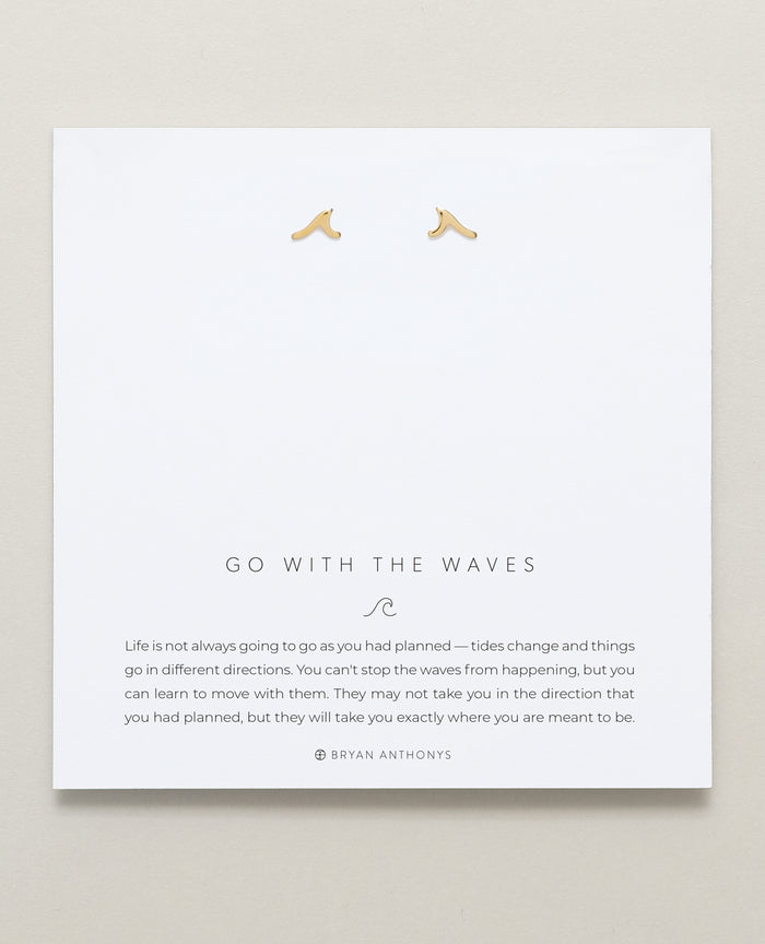 Bryan Anthonys Go With The Waves Gold Earrings On Card