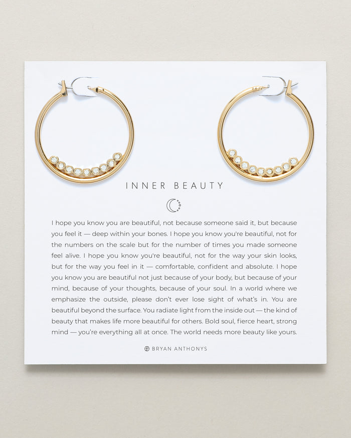 Bryan Anthonys dainty inner beauty hoop earrings 14k gold