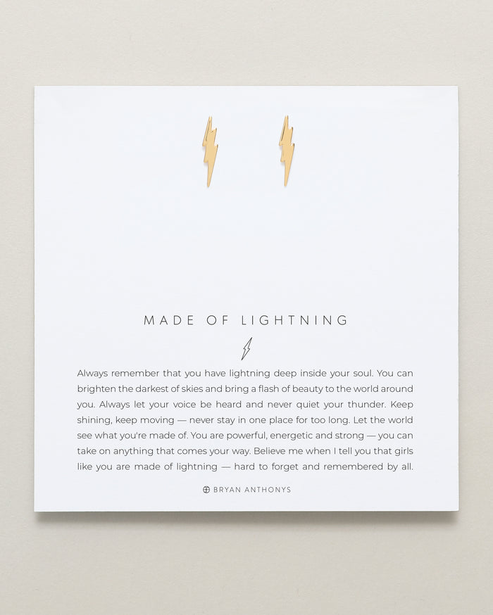 bryan anthonys dainty made of lightning bolt earrings 14k gold
