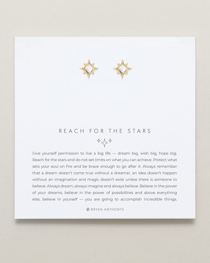 bryan anthonys dainty reach for the stars earrings 14k gold