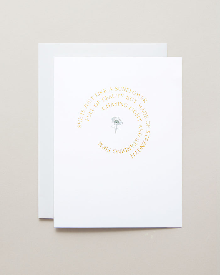 Bryan Anthonys Chasing Light Gold Foil Greeting Card