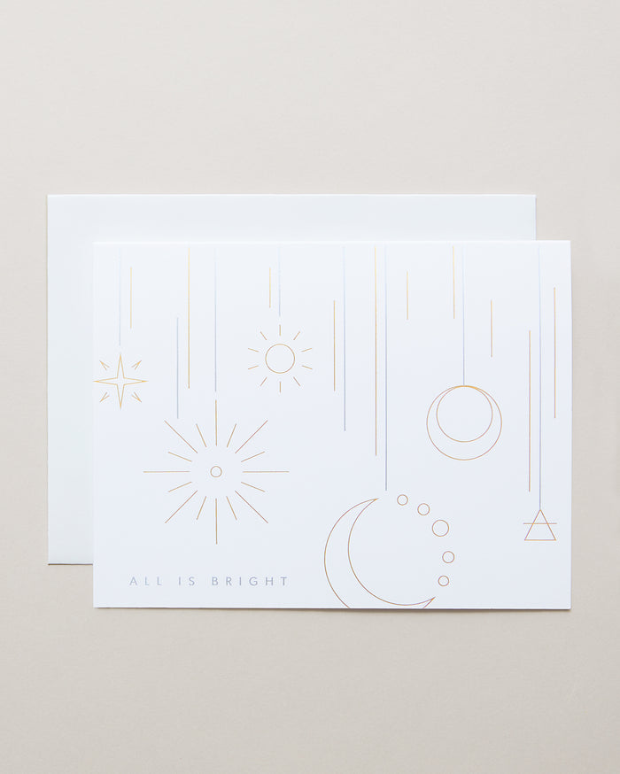 Bryan Anthonys Full of Light Holiday Greeting Card Gold & Silver Foil