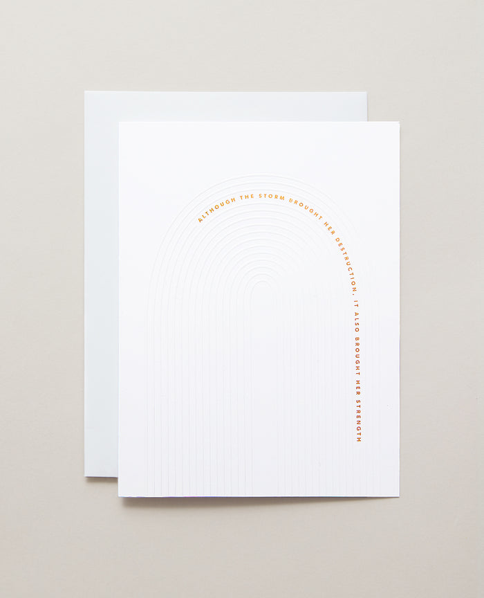 Bryan Anthonys Overcome Gold Foil Greeting Card
