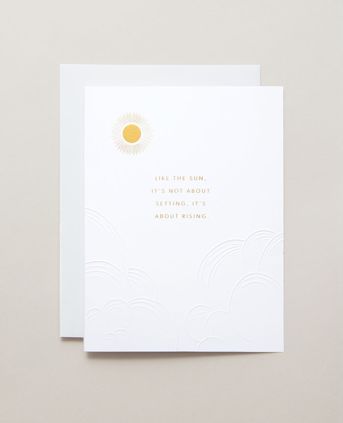 Bryan Anthonys Sun Will Rise Gold Foil Greeting Card