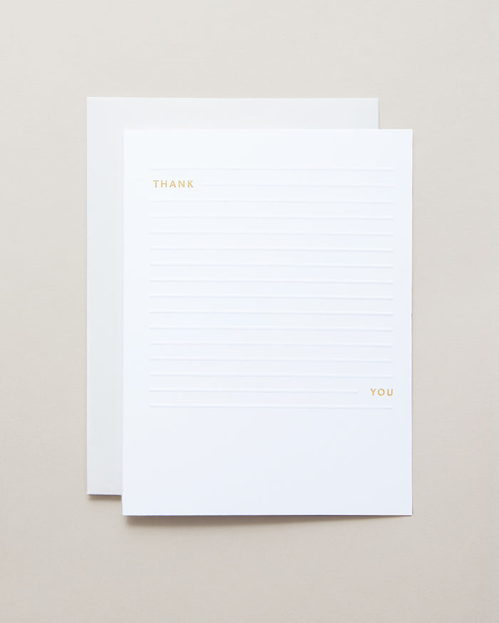 Bryan Anthonys Minimalist Thank You Greeting Card