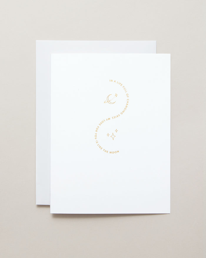 Bryan Anthonys To The Moon and Back Greeting Card Gold Foil