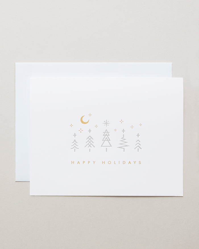 Bryan Anthonys Winter Wonderland Holiday Greeting Card Gold Foil & Silver Foil + Debossed