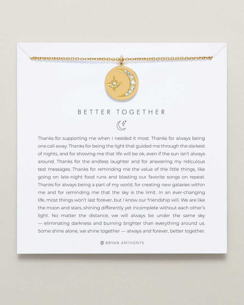 Bryan Anthonys dainty better together friendship necklace 14k gold