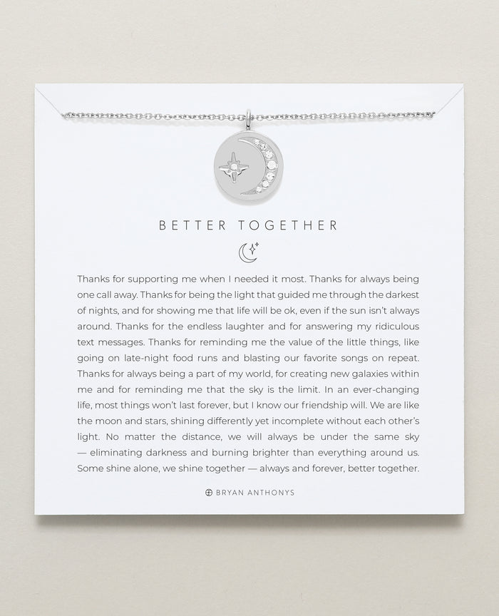 Bryan Anthonys dainty better together friendship necklace silver