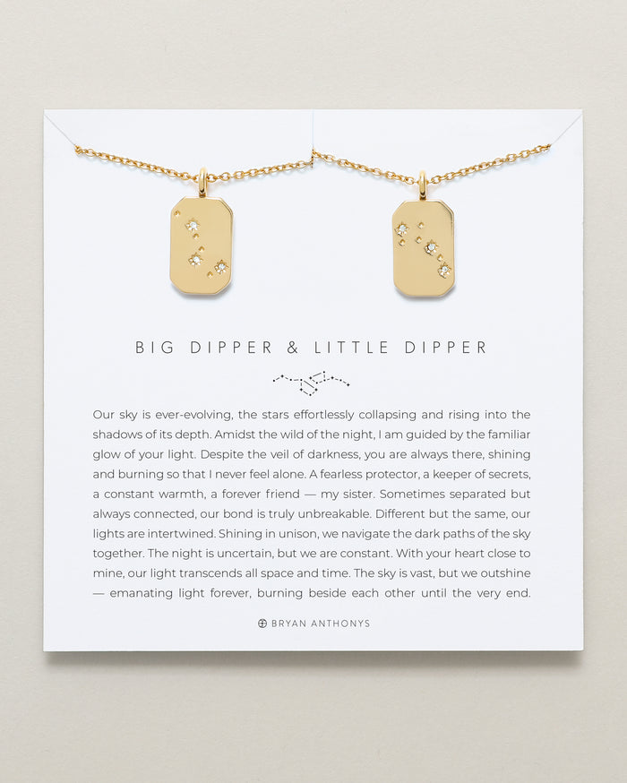 bryan anthonys big dipper little dipper sister necklace set 14k gold
