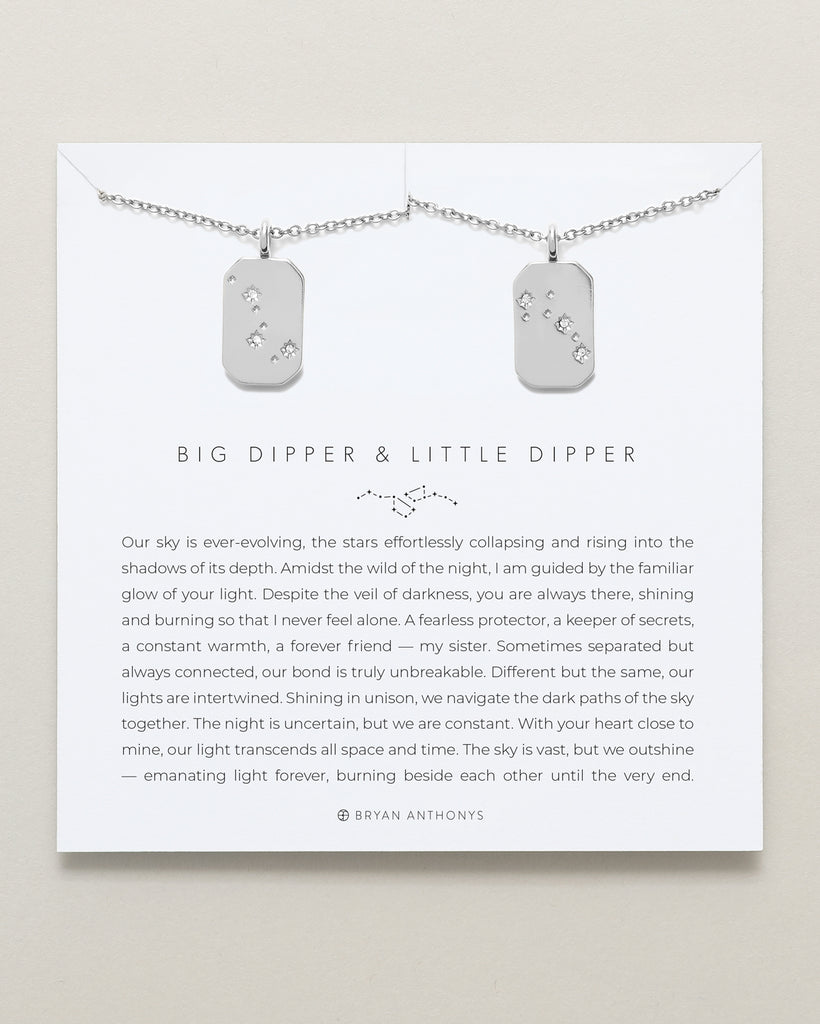 bryan anthonys big dipper little dipper sister necklace set silver