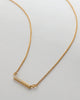 Bryan Anthonys BLANK SLATE NECKLACE GOLD MACRO SHOT