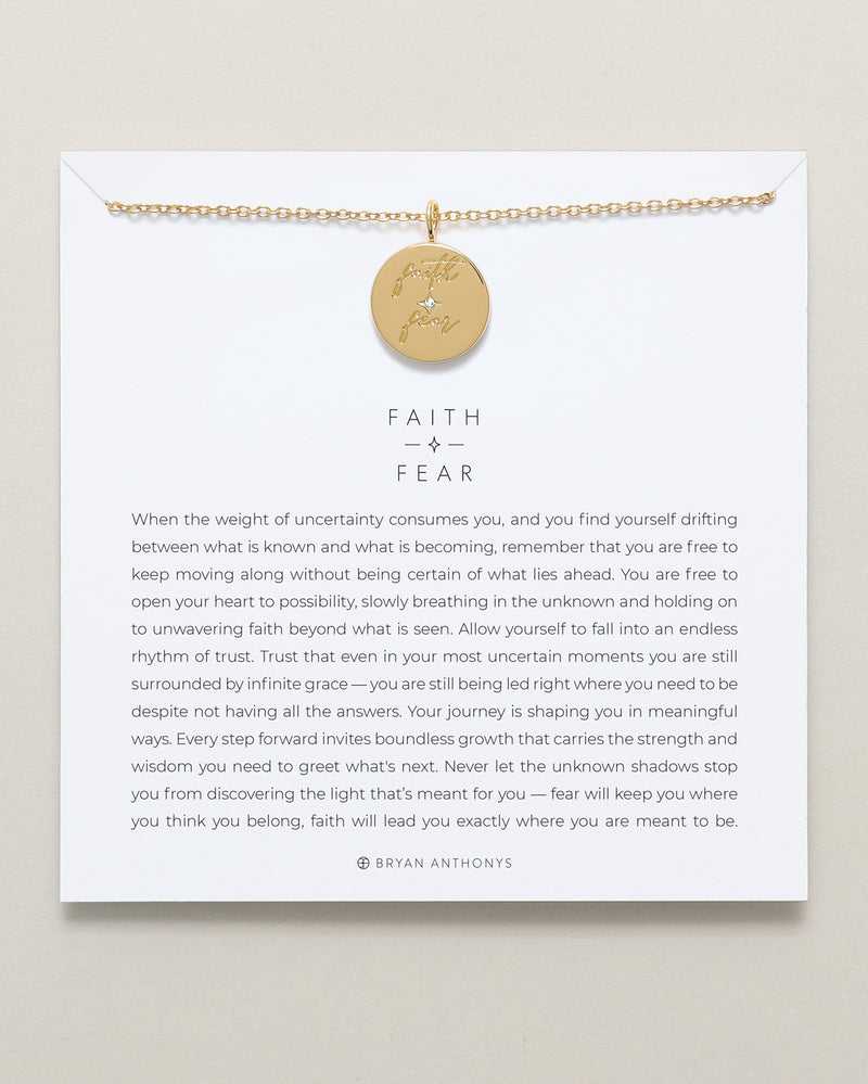 bryan anthonys faith over fear necklace mindful messages 14k gold