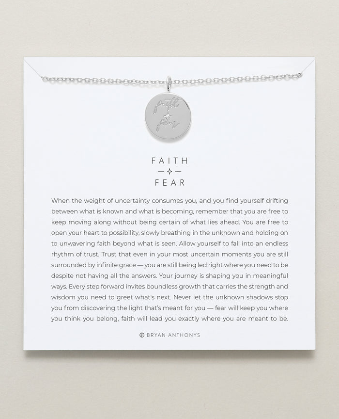 bryan anthonys faith over fear necklace mindful messages silver