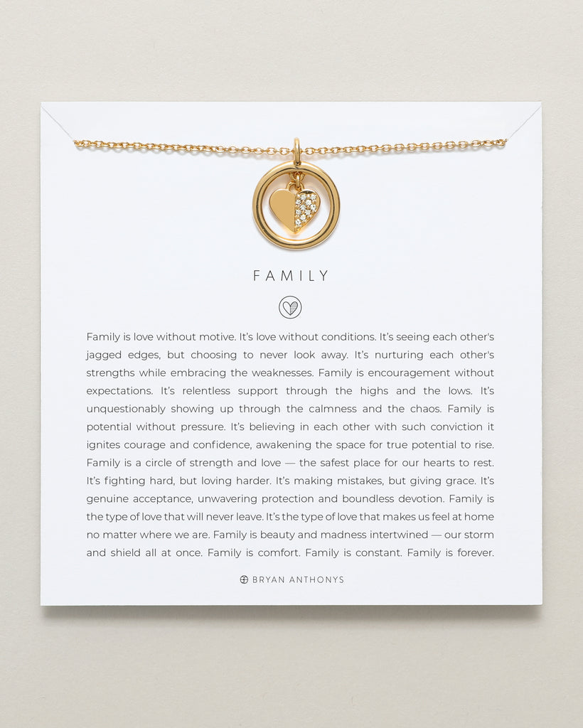 Bryan Anthonys dainty family necklace 14k gold