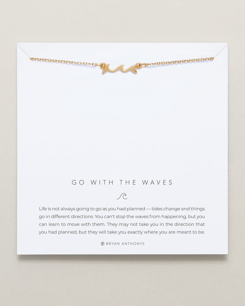 Bryan Anthonys dainty go with the waves necklace 14k gold