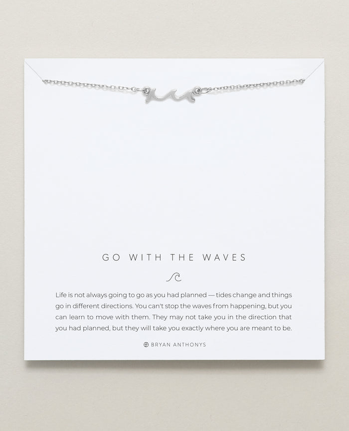 Bryan Anthonys dainty go with the waves necklace silver