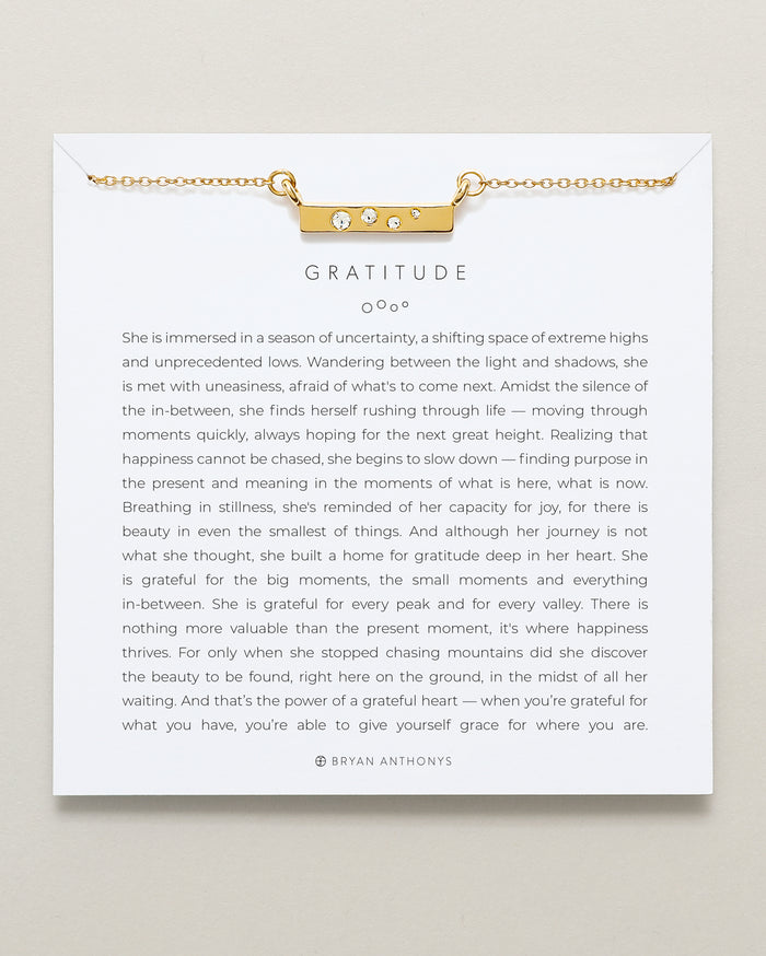 Bryan Anthonys dainty gratitude necklace 14k gold