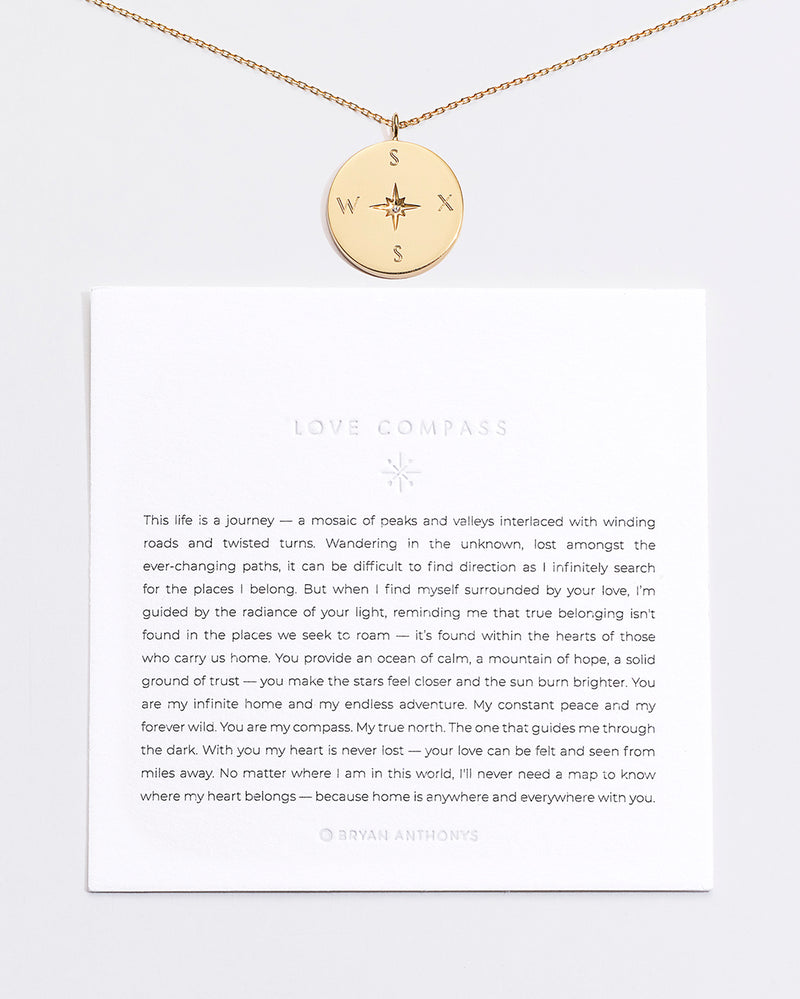 Bryan Anthonys Love Compass Gold Vermeil Demi-Fine Jewelry Customizable Engraved Initials