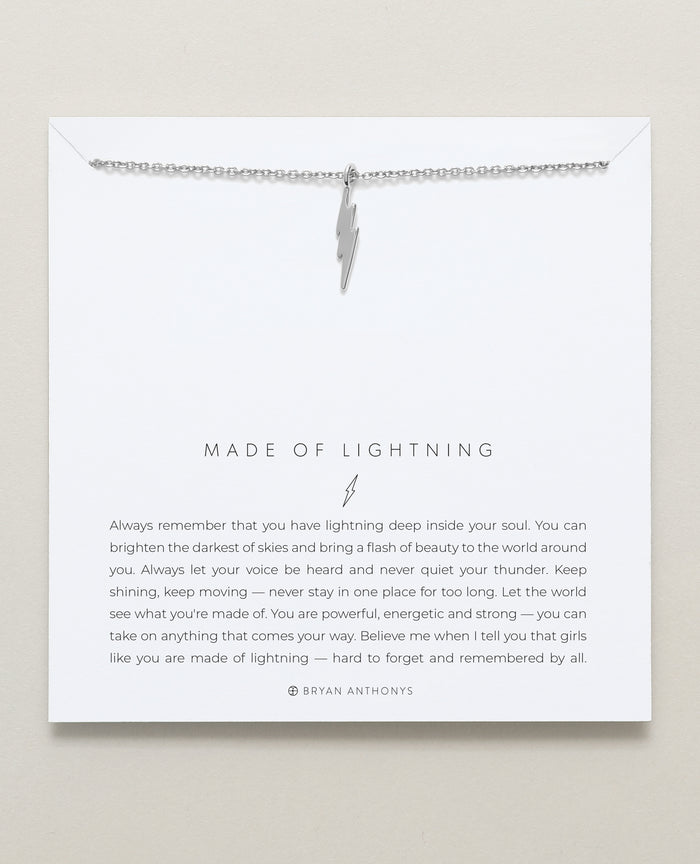 Bryan Anthonys dainty made of lightning bolt necklace silver