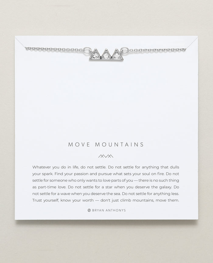 Bryan Anthonys dainty move mountains necklace silver