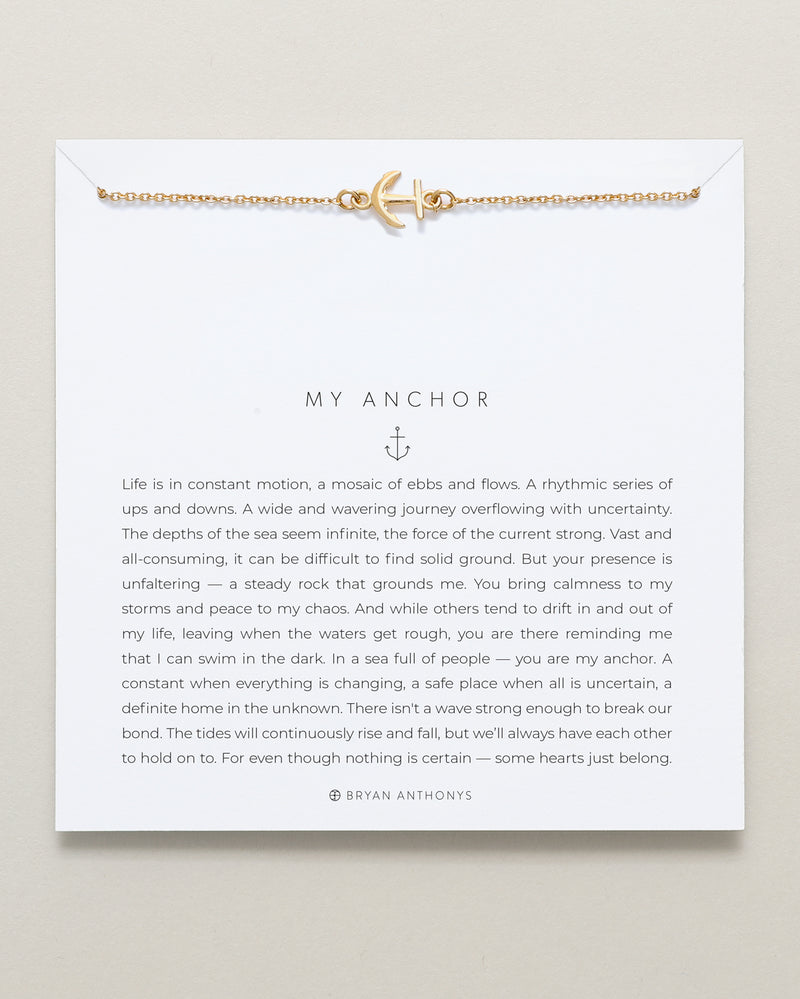 bryan anthonys my anchor dainty necklace 14k gold