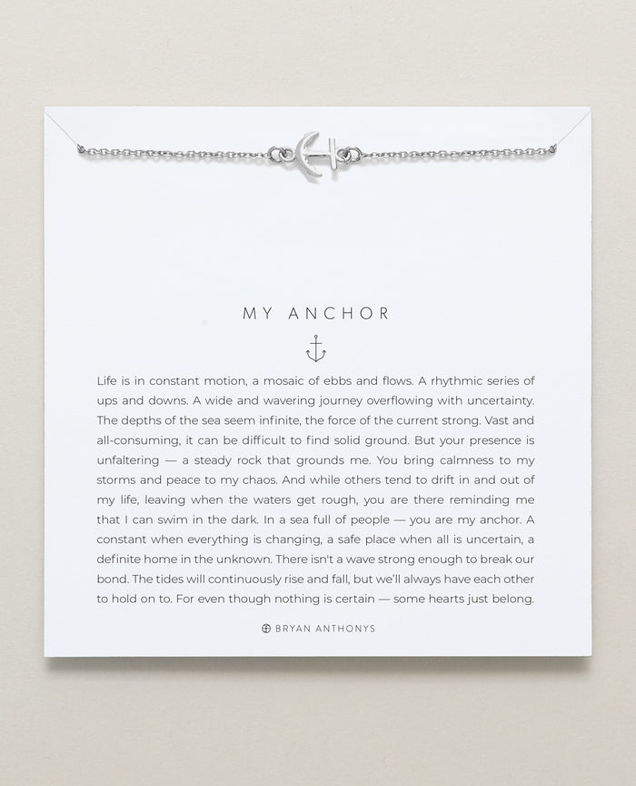 Bryan Anthonys dainty my anchor necklace 14k gold