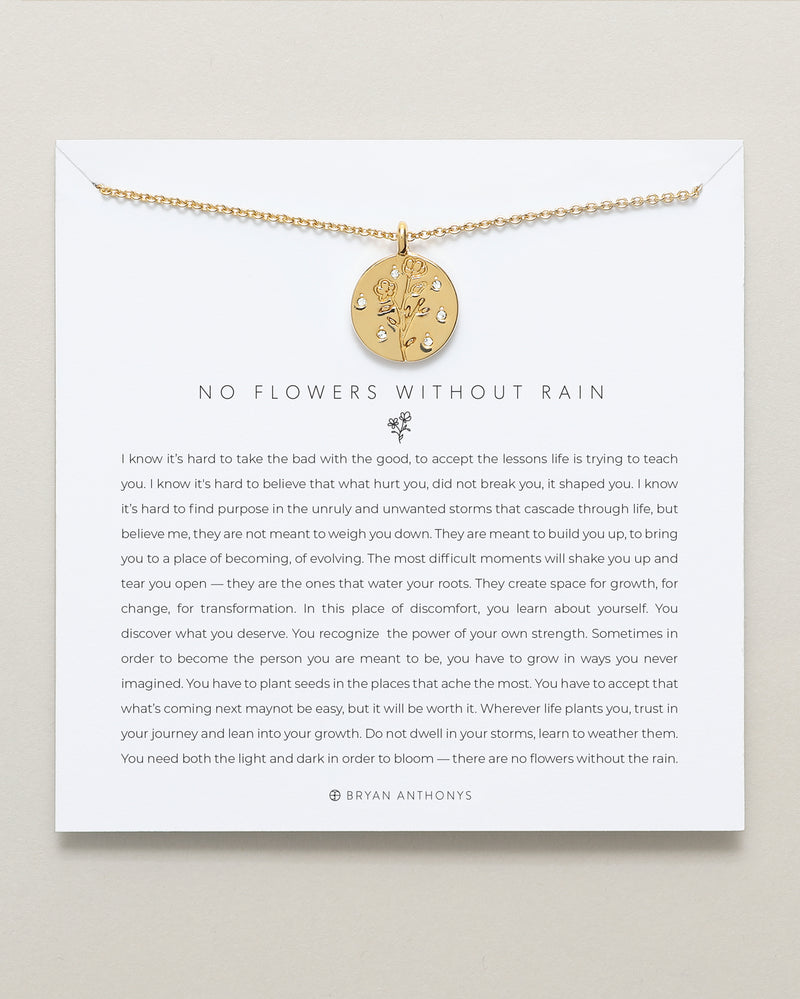 No Flowers Without Rain Necklace
