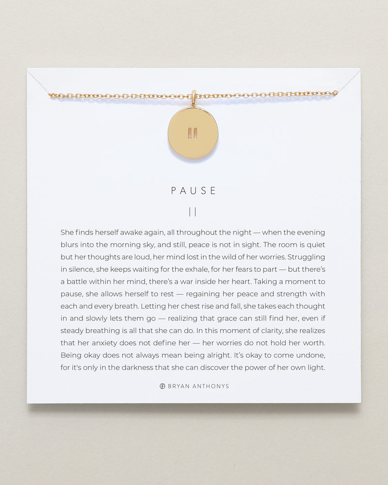 bryan anthonys designs for a difference pause necklace anxiety give back 14k gold