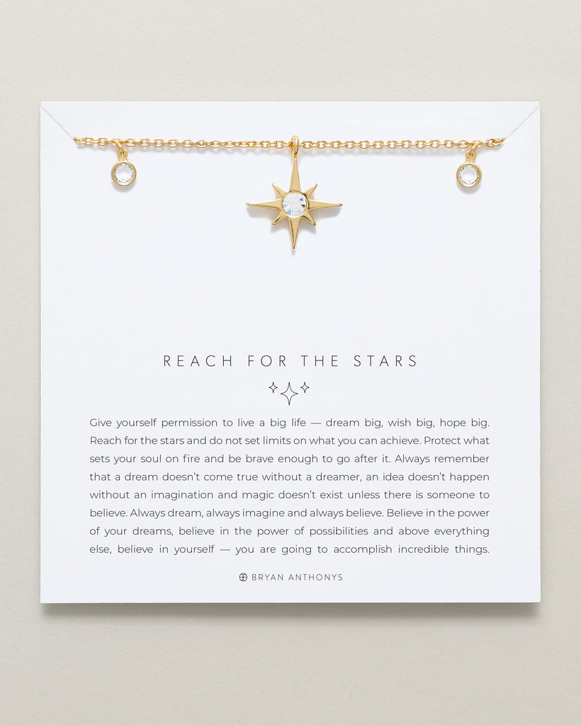 Bryan Anthonys dainty reach for the stars choker necklace 14k gold