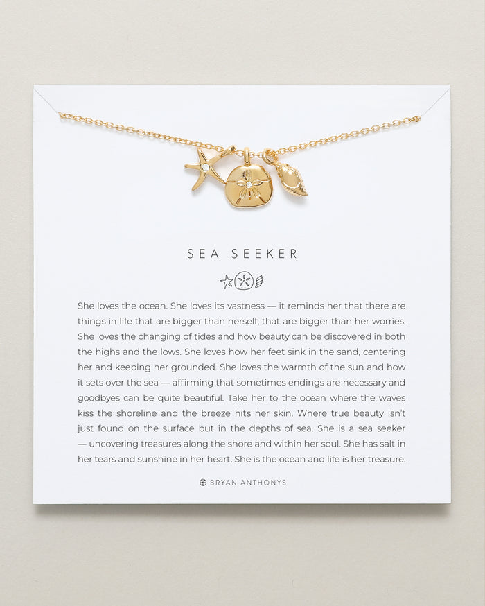 bryan anthonys dainty sea seeker necklace 14k gold