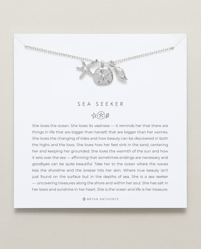 bryan anthonys dainty sea seeker necklace silver