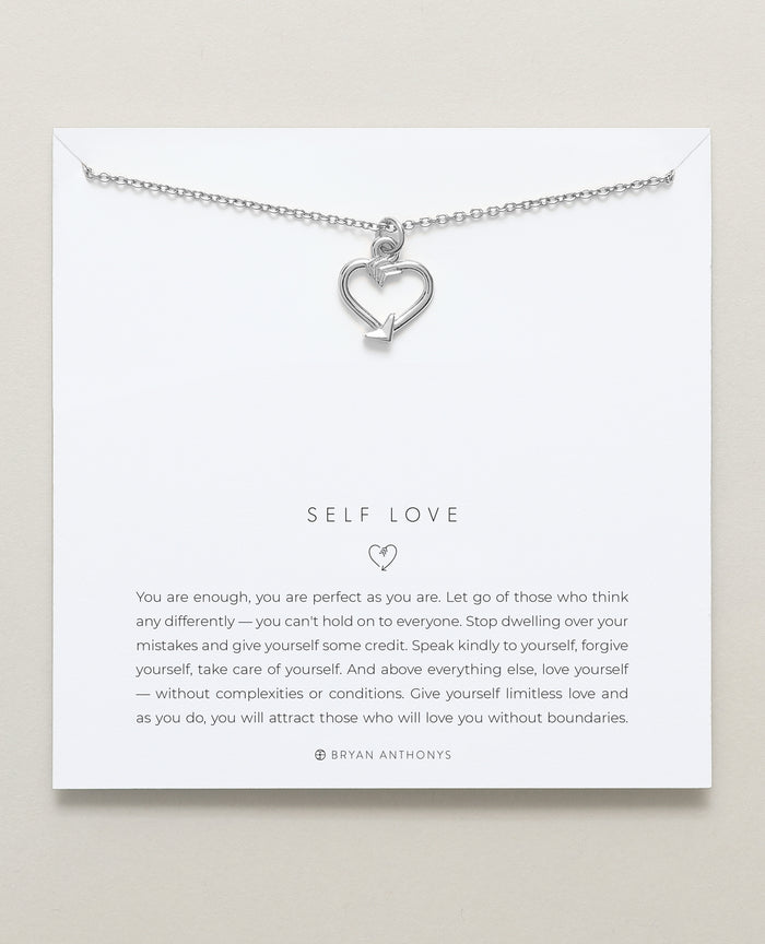 bryan anthonys dainty self love necklace silver