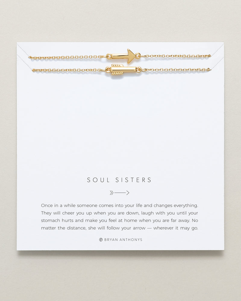 Bryan Anthonys dainty soul sisters best friend arrow necklaces set 14k gold