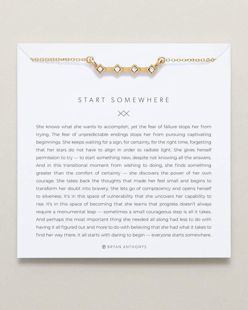 Bryan Anthonys start somewhere necklace 14k gold