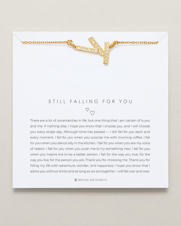 Bryan Anthonys Still Falling For You Necklace 14k Gold