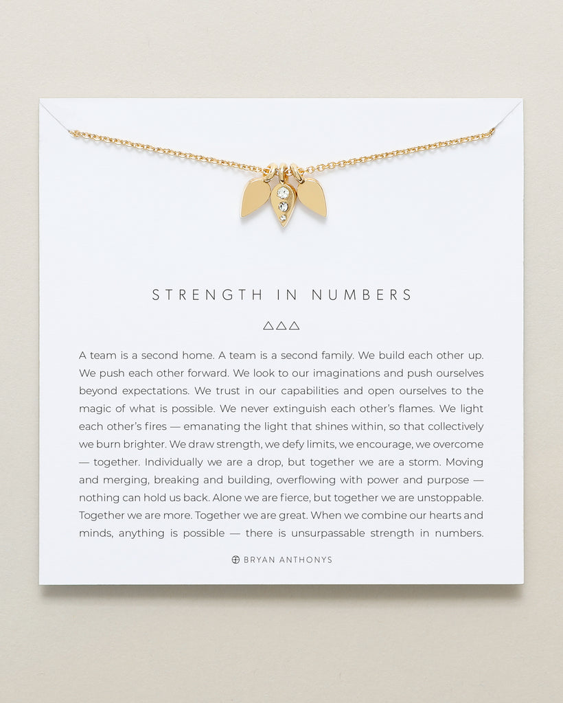 Bryan Anthonys dainty strength in numbers teamwork necklace 14k gold