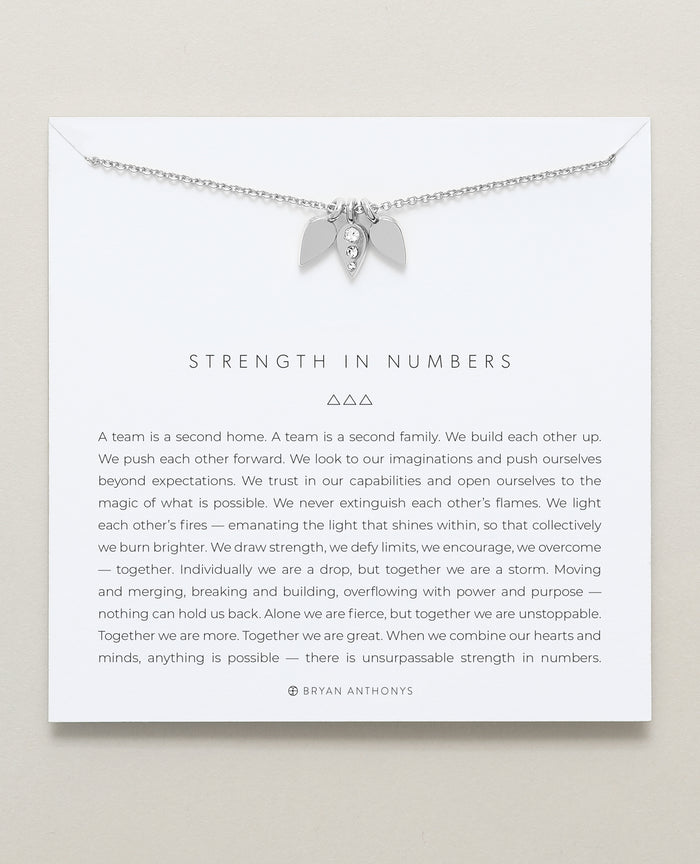 Bryan Anthonys dainty strength in numbers teamwork necklace silver
