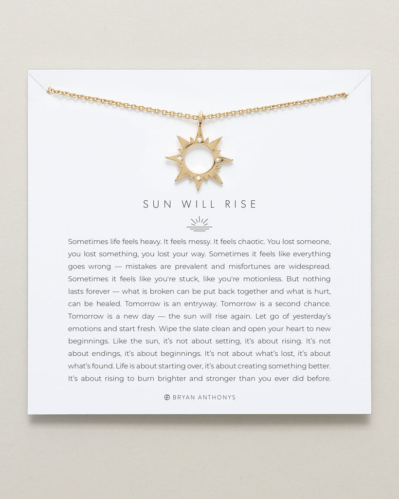 Bryan Anthonys dainty sun will rise necklace 14k gold