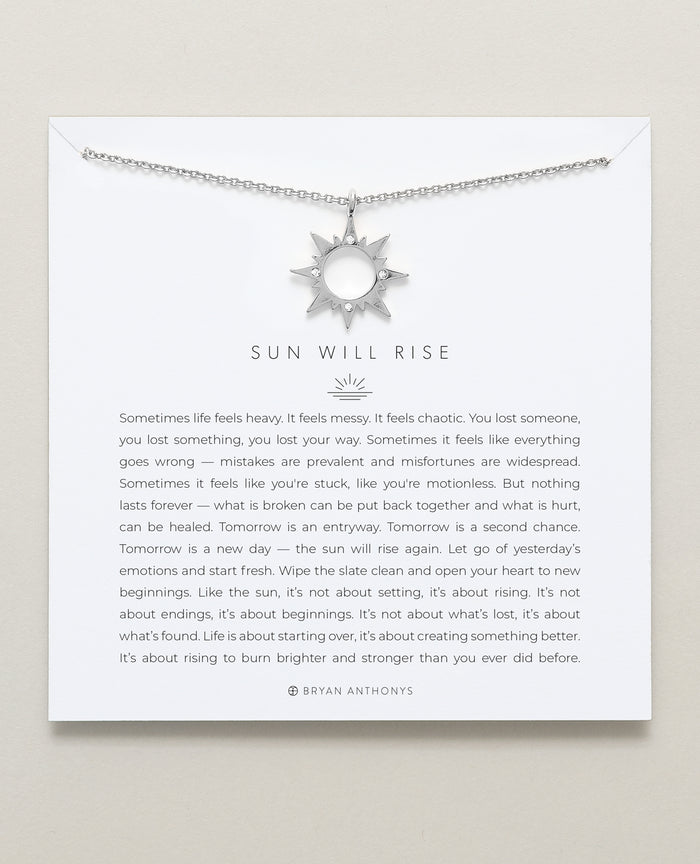 Bryan Anthonys dainty sun will rise necklace silver