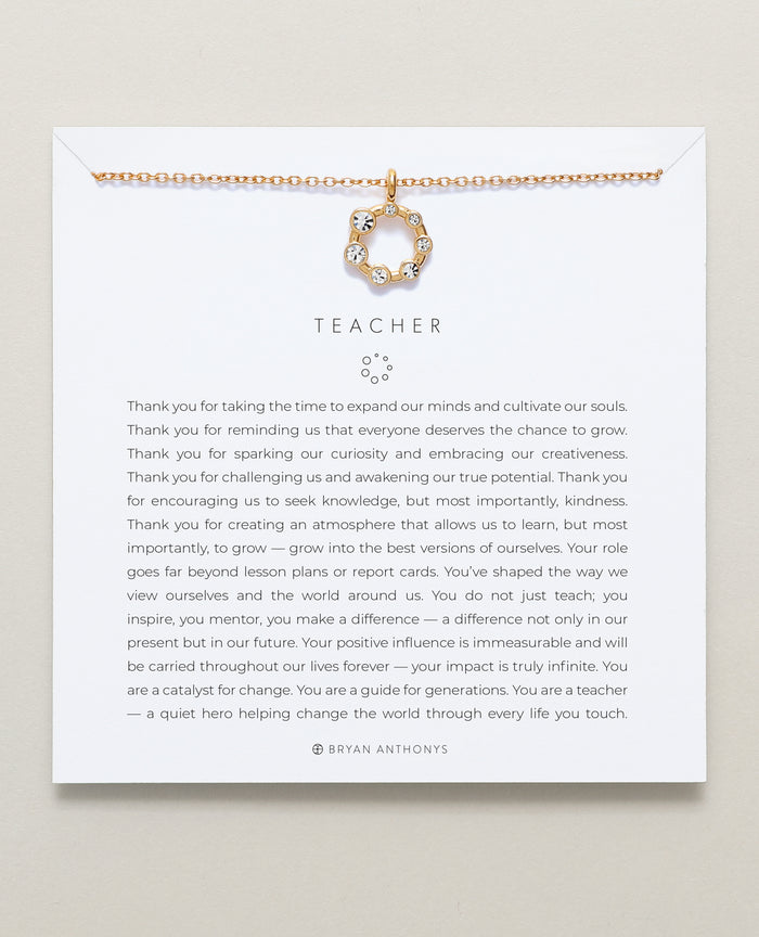 Bryan Anthonys dainty teacher necklace gift 14k gold