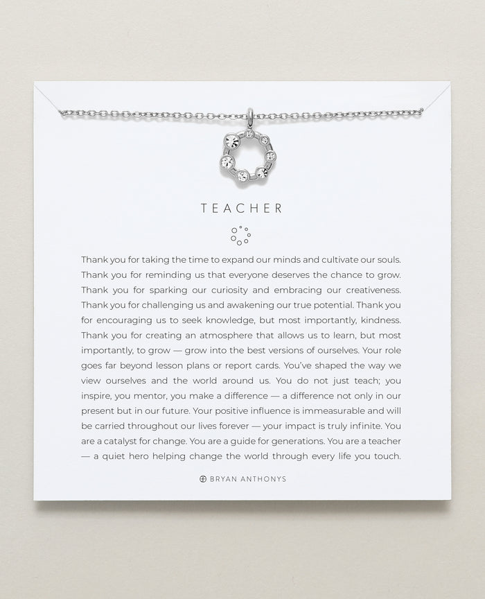 xBryan Anthonys dainty teacher necklace gift silver